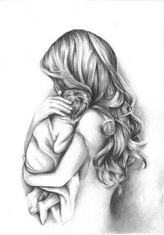baby drawing Mother and Child Drawing Tattoo For Son, Tattoos For Kids, Tattoos For Daughters, Logan Tattoo, Mother And Daughter Drawing, Mother Art, Mother Mother, Baby Drawing, Drawing For Kids
