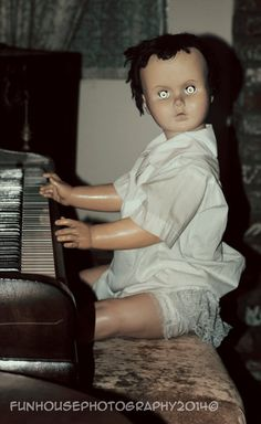 Creepy Vintage Doll Photo Rustic Antique by FunHousePhotography
