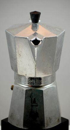 Vintage Aluminum Bialetti Moka Express Stove Top Espresso Maker #cafeteras #italianas #moka #bialetti