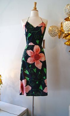 Vintage Halter Dress // 1980's Janet Russo 50's by xtabayvintage, $98.00