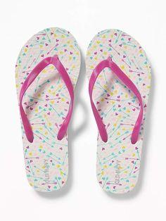 8f6c81a24f5cd5 Old Navy Printed Flip-Flops for Girls Dress Sandals