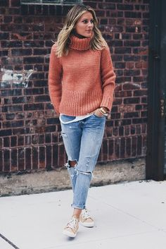 chunky knit turtleneck