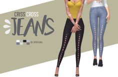 "aprisims: "" Criss Cross Jeans 