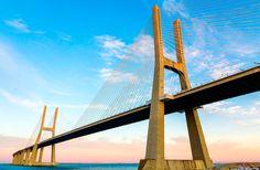 Vasco de Gama Bridge. Where: Lisbon, Portugal. Sprawling approximately 11 miles, the Vasco da Gama is a true architectural feat.