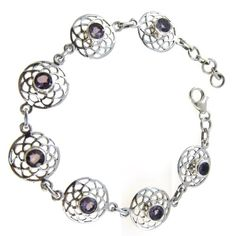 Silver, Amethyst, Handmade Link Bracelet 7.75 inches, Magical Purple, 12 grams ShalinIndia,http://www.amazon.com/dp/B005KH1BYW/ref=cm_sw_r_pi_dp_UZIysb1AR5QS61R8