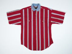 Excellent condition 90s Ralph Lauren button down shirt. Red, white ...