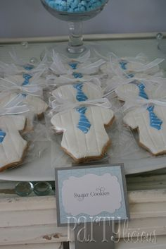 """Little man"" cookies  #baby #shower #party #themes"