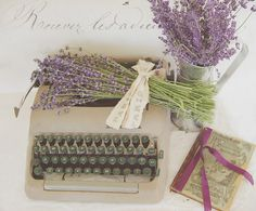 Lavender and vintage. Now I can write the love letter.