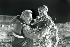 Stan Winston on set of Terminator