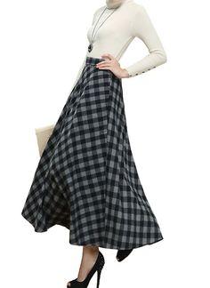 6f9fe5e0b0d vintage Winter Long woolen skirt wool skirt   women by LYDRESS