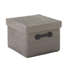 Container Store - Square Havana Box Grey