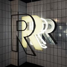 different kinds of R - this shows you the different layers in building a channel letter sign Retail Signage, Exterior Signage, Wayfinding Signage, Signage Design, Lettering Design, Exterior Stairs, Grey Exterior, Building Exterior, Environmental Graphic Design