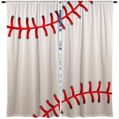 Custom Window Curtain, Stitched Baseball Theme- wonder if I can DIY this for a valance instead of long curtains Baseball Curtains, Baseball Headboard, Kids Bedroom, Bedroom Decor, Bedroom Ideas, Kids Rooms, Sibling Bedroom, Boy Bedrooms, Nursery Ideas