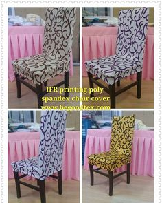 Inherent Flame Fire Retardant Printing Poly Spandex Chair Cover