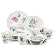 LENOX Butterfly Meadow® 18-Piece Dinnerware Set $139.95 BEST PRICE GUARANTEE FREE WORLD SHIPPING (LOCAL ORDER PICK UP IS ALSO AVAILABLE & GET 20% OFF)