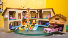 The Simpsons Lego house, available now for $199.99, features Homer, Marge, Bart, Lisa, Maggie and neighbor Ned Flanders.