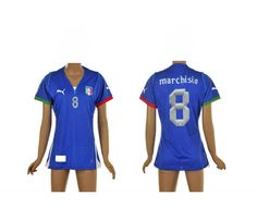 Italie Femme Maillot Football Domicile 2013/2014 Puma Collection(8 Marchisio) #maillotfemme
