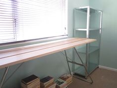 DIY desk with instructions