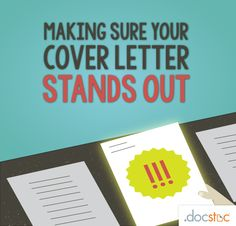 Making Sure Your Cove Letter Stands Out