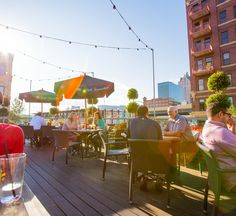 Delicious food and stunning city views: what could be better? These rooftops in Milwaukee will help you take patio dining to the next level (literally)! Wisconsin Attractions, Wisconsin Vacation, Beautiful Places To Visit, Great Places, Places To Go, Rooftop Patio, Rooftop Restaurant, Weekend Trips, Weekend Getaways