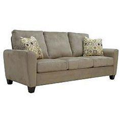 Dexter Modern Mocha Brown Microfiber Sofa