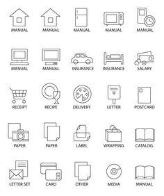 小物ラベル Postcard Paper, Letter Set, Line Icon, Storage Organization, Organizing, Keep It Cleaner, Getting Organized, Diy And Crafts, Diagram