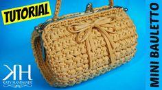 "TUTORIAL MINI BAULETTO ""Vintage"" in FETTUCCIA | Uncinetto/Crochet || Kat..."