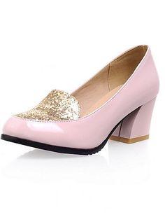 X&D Damenschuhe - High Heels - Büro / Lässig - Kunstleder - Blockabsatz - Absätze - Schwarz / Rosa / Weiß / Beige - http://on-line-kaufen.de/tba/x-d-damenschuhe-high-heels-buero-laessig-absaetze-14