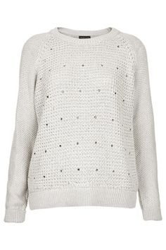 Knitted Scatter Front Jumper