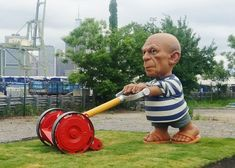 'If Picasso Was Around Today He'd Have to Mow Lawns': Why One Artist Installed a 10-Foot Picasso Lawn Gnome in Brooklyn