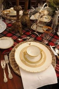 #Spode Glen Lodge china pattern is featured in this blog post 'Turn Your Dining Room into an English Manor for the Holidays'.