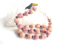 Felt beads necklace with Brazilian Açaí beads  by FILZKATZE, €15.00