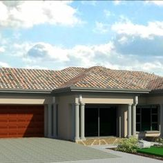 Tuscan House Plans, Simple House Plans, Beautiful House Plans, Family House Plans, House Plans Mansion, House Roof, House Floor Plans, Drawing House Plans, Single Storey House Plans