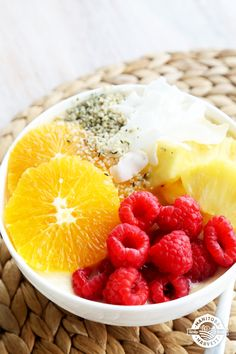 The Tropical Tango Smoothie Bowl is so good it will help you dance your way through the end of the week! With pineapple, papaya, coconut water and Hemp Hearts, this smoothie bowl tastes like a trip to the tropics! Get the full recipe by downloading our FREE Back to School Smoothie Bowls eBook!