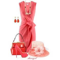 """coral For Summer"" By Sherryvl On Polyvore"