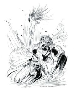 Final Fantasy II -  Labyrinth of Nightmares Illustration - Yoshitaka Amano