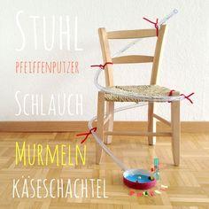 1 Schlauch Murmelbahn Freitags DIY: Heute, die Schlauchmurmelbahn