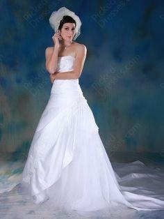 A-line ,, White ,Wedding Dress