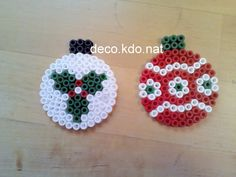 Christmas baubles hama perler beads by Deco.Kdo.Nat