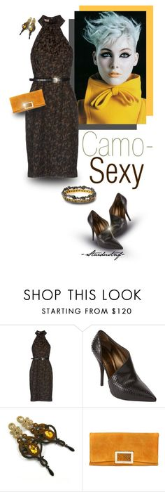 """Camo-Sexy?"" by stardustnf ❤ liked on Polyvore featuring Trilogy, Michael Kors, Lanvin, Roger Vivier and Alexis Bittar"