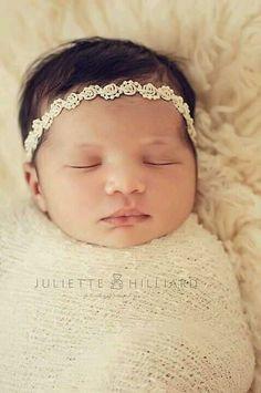 "Newborn Headband ""Angelina"" Newborn Photography Prop, Baby Headband by BabyBlissProps on Etsy Foto Newborn, Baby Girl Newborn, Baby Baby, Baby Girls, Newborn Headbands, Baby Girl Headbands, Crochet Headbands, Flower Headbands, Newborn Pictures"