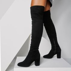 b949e2aaf9b Maede Midnight Black Women s Over-the-knee boots