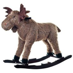 Happy Trails Max Moose Plush Rocking Ride-On for only $64.99 You save: $60.00 (48%)