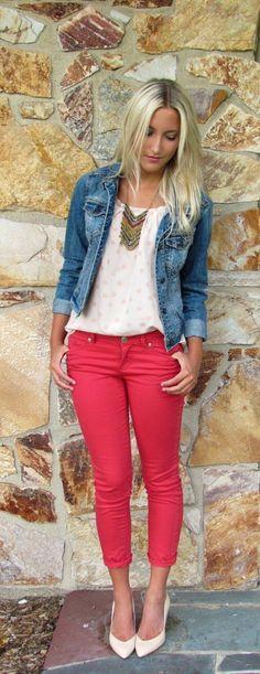 Spring: Heel + Colores Jeans + Tops + Denim Jackets