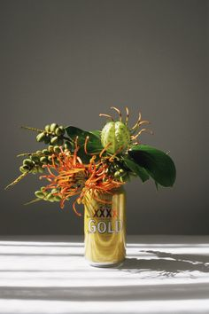 On ongoing personal series, pairing local flora picked on the side of the road with the local beer - shot on location around the world. by Lauren Bamford. Flower Installation, Growing Vegetables, Ikebana, Floral Arrangements, Flower Arrangement, Flower Art, Still Life, Planting Flowers, Greenery