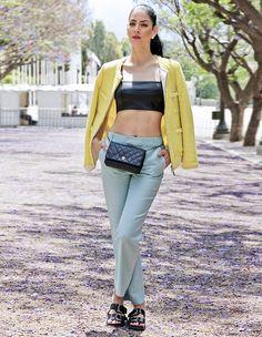 Lookbook - Konstantina Tzagaraki - Crop Top, Pants, Slides, Chanel Bag - I love like a leaf in the wind..