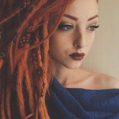 #Jewel #alienationj #dreads #gingerlocks #wingedliner #thebalmcosmetics #gingerhead