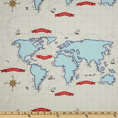 Pirates, Anchors and Whales, OH MY : Red, Navy and Sky Blue - Custom Modern Crib Bedding Set - Nautical, Chevron, Maps