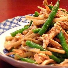 昔買ったレシピ本に載っていたレシピで、気に入ってずっと作っています。 - 168件のもぐもぐ - 鶏ささみとたたきごぼうのサラダ by happyhana