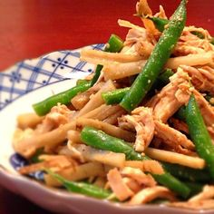 鶏ささみとたたきごぼうのサラダ